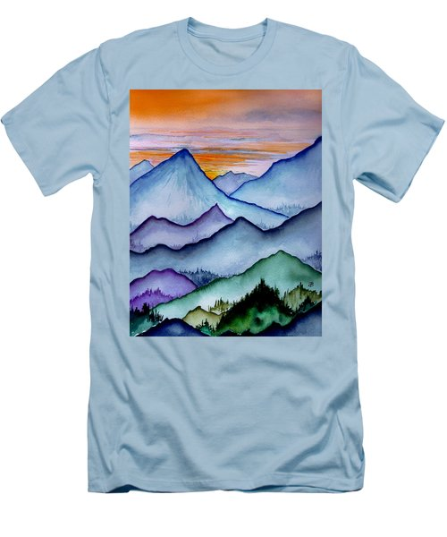 The Misty Mountains Men's T-Shirt (Athletic Fit)