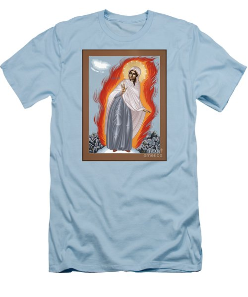 Men's T-Shirt (Athletic Fit) featuring the painting The Mother Of God Of Medjugorgie 084 by William Hart McNichols
