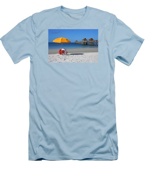 Men's T-Shirt (Slim Fit) featuring the photograph The Naples Pier by Robb Stan