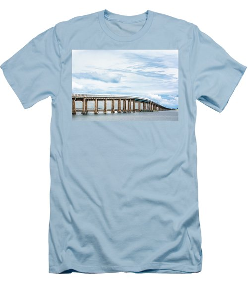 Men's T-Shirt (Slim Fit) featuring the photograph The Navarre Bridge by Shelby Young