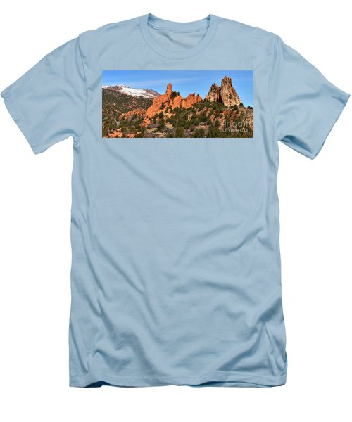 Men's T-Shirt (Slim Fit) featuring the photograph The High Point View by Adam Jewell