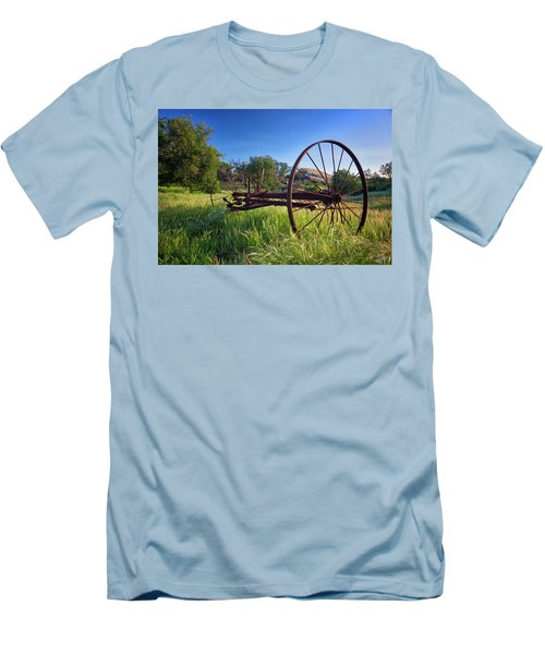 The Old Mower 2 Men's T-Shirt (Slim Fit) by Endre Balogh