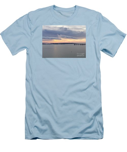 The Opalescent Sunrise Is Unfurled Men's T-Shirt (Slim Fit) by Patricia E Sundik