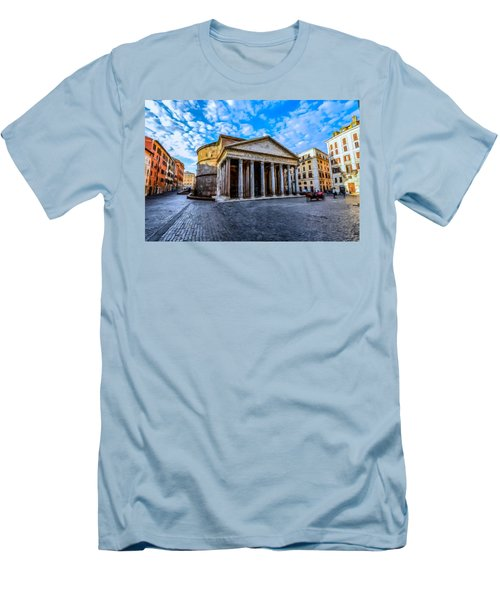 Men's T-Shirt (Slim Fit) featuring the painting The Pantheon Rome by David Dehner