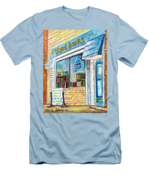 The Paperbacks Plus Book Store St Paul Minnesota Men's T-Shirt (Slim Fit) by Carole Spandau