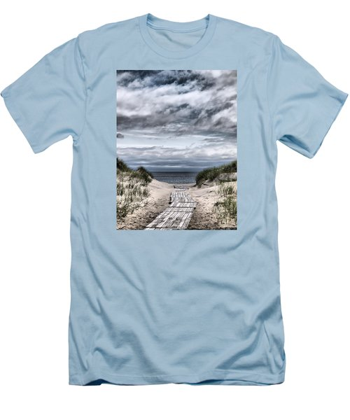 The Path To The Beach Men's T-Shirt (Slim Fit) by Jouko Lehto