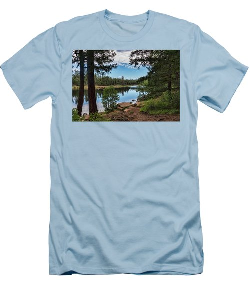 Men's T-Shirt (Athletic Fit) featuring the photograph The Perfect Fishing Spot  by Saija Lehtonen