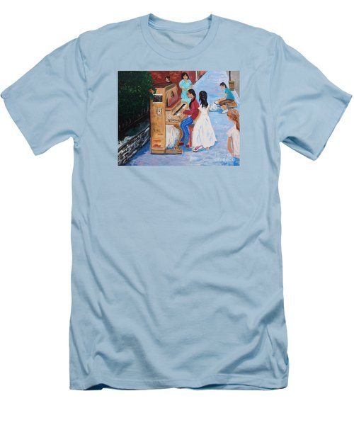 The Piano Player Men's T-Shirt (Athletic Fit)