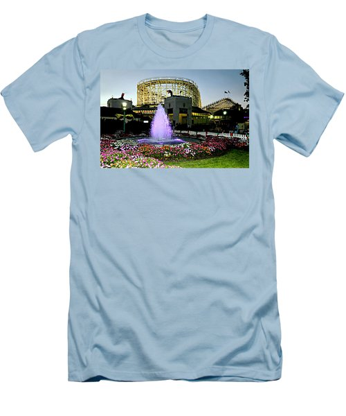 The Pink Fountain Men's T-Shirt (Athletic Fit)