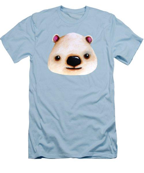 The Polar Bear Men's T-Shirt (Slim Fit) by Lucia Stewart