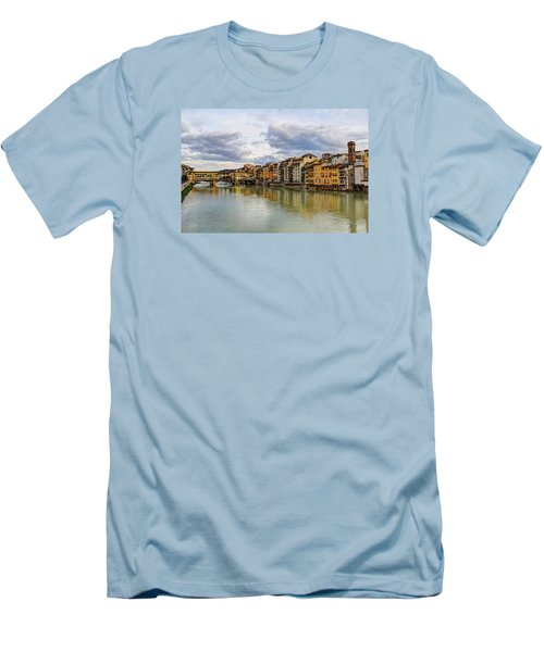 Men's T-Shirt (Slim Fit) featuring the photograph The Ponte Vecchio And Florence by Wade Brooks