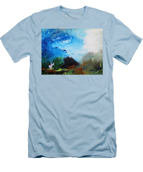 The Prayer In The Garden Men's T-Shirt (Slim Fit) by Kume Bryant
