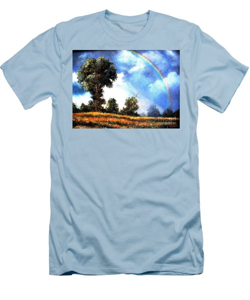 Men's T-Shirt (Slim Fit) featuring the painting The Promise  by Hazel Holland