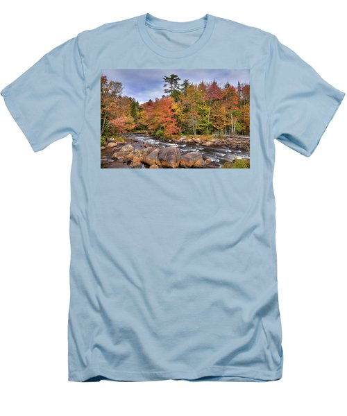 Men's T-Shirt (Slim Fit) featuring the photograph The Rapids On The Moose River by David Patterson