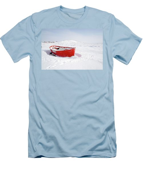 The Red Fishing Boat Men's T-Shirt (Slim Fit) by Nick Mares