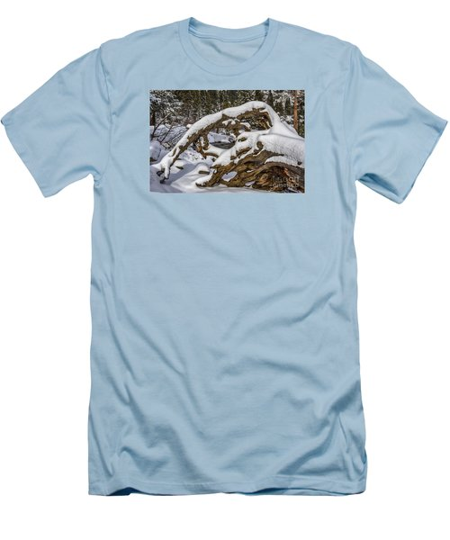 The Roots Of Winter Men's T-Shirt (Slim Fit) by Mitch Shindelbower