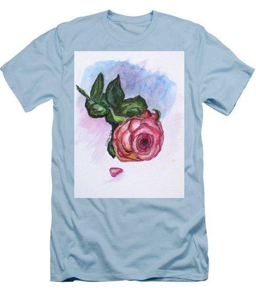 The Rose Men's T-Shirt (Slim Fit) by Clyde J Kell