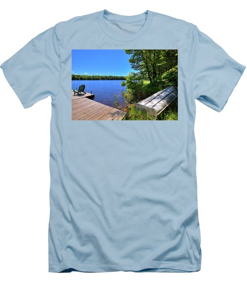 Men's T-Shirt (Slim Fit) featuring the photograph The Rowboat On West Lake by David Patterson