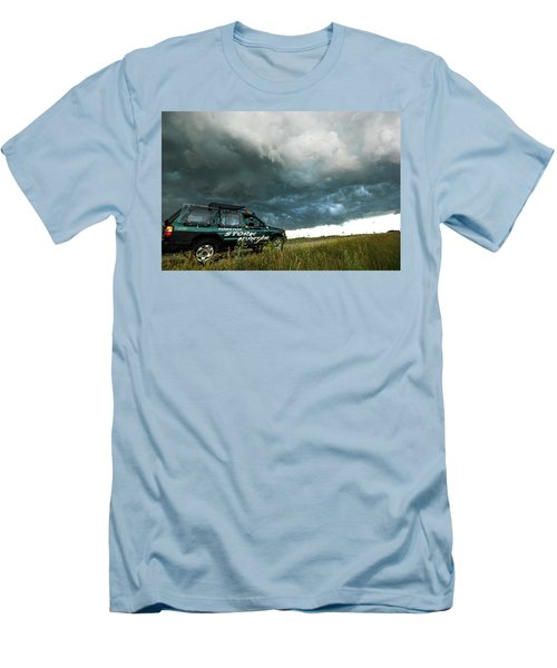 Men's T-Shirt (Slim Fit) featuring the photograph The Saskatchewan Whale's Mouth by Ryan Crouse