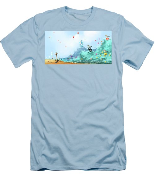 The Seagull's Cup..the Oldest Trophy In The Seafaring Calendar Men's T-Shirt (Athletic Fit)