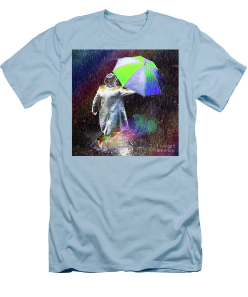 Men's T-Shirt (Athletic Fit) featuring the photograph The Sheer Joy Of Puddles by LemonArt Photography