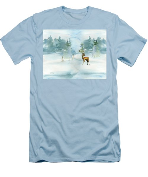The Soft Arrival Of Winter Men's T-Shirt (Slim Fit) by Colleen Taylor