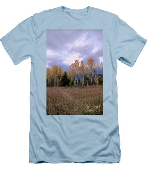 The  Song Of The Aspens 2 Men's T-Shirt (Slim Fit) by Victor K