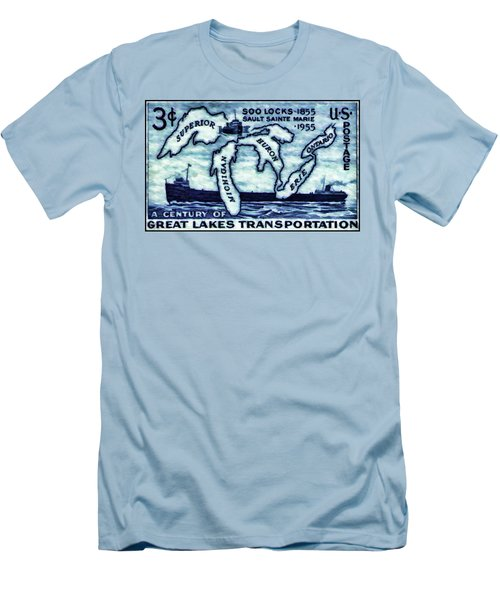 The Soo Locks Stamp Men's T-Shirt (Athletic Fit)