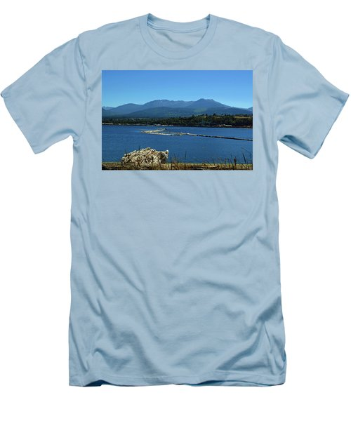 Men's T-Shirt (Athletic Fit) featuring the photograph The Spit by Tikvah's Hope