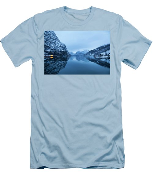 Men's T-Shirt (Slim Fit) featuring the photograph The Stillness Of The Sea by David Chandler