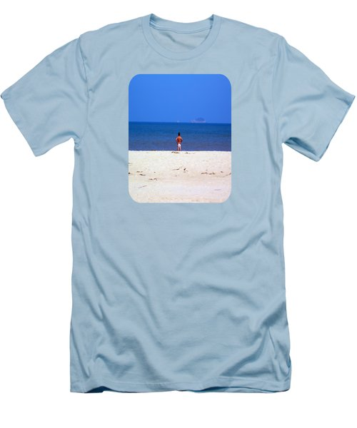 Men's T-Shirt (Slim Fit) featuring the photograph The Swimmer by Ethna Gillespie