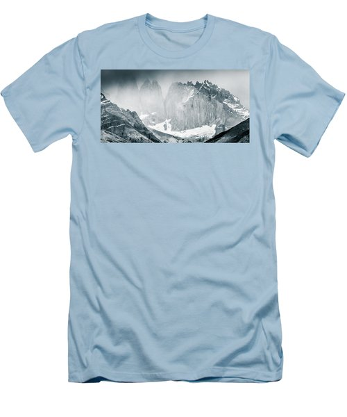 Men's T-Shirt (Slim Fit) featuring the photograph The Towers by Andrew Matwijec