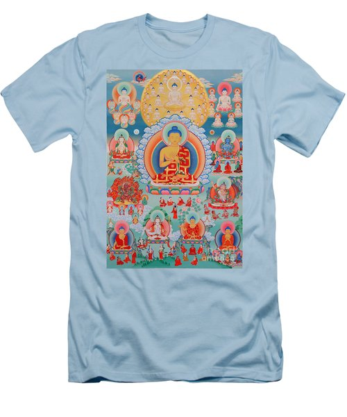 The Twelve Primordial Teachers Of Dzogchen - Tonpa Chu Ni Men's T-Shirt (Slim Fit) by Sergey Noskov