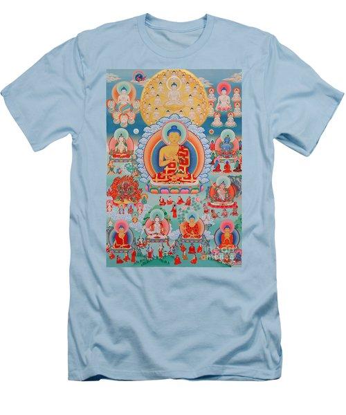 The Twelve Primordial Teachers Of Dzogchen - Tonpa Chu Ni Men's T-Shirt (Athletic Fit)