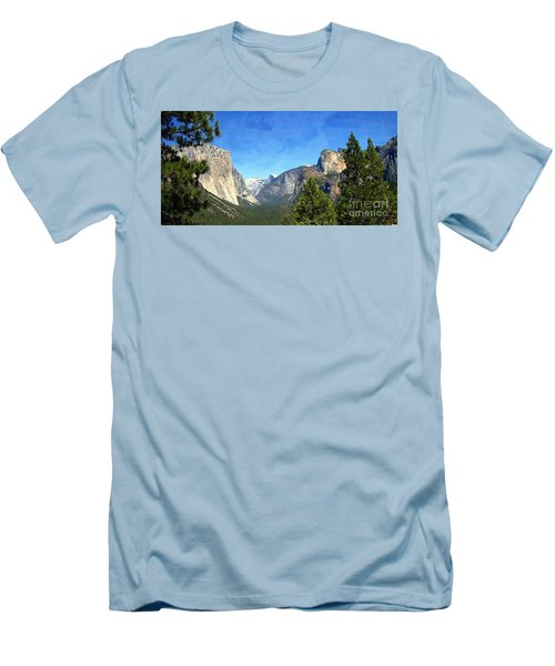 The Valley Of Inspiration-yosemite Men's T-Shirt (Slim Fit) by Glenn McCarthy Art and Photography