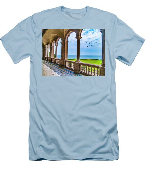 Men's T-Shirt (Athletic Fit) featuring the photograph The Veranda by Paul Wear