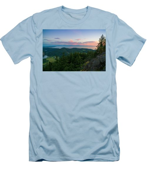 The View From Mt Erie Men's T-Shirt (Slim Fit) by Ken Stanback