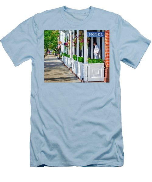 The Waiter Men's T-Shirt (Slim Fit) by Keith Armstrong