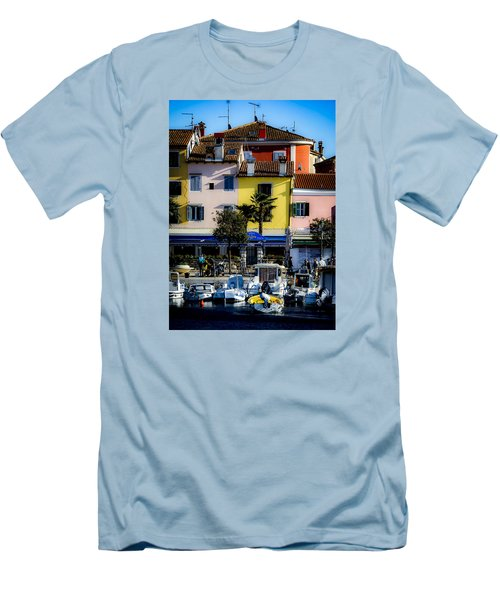 The Watercolors In Split Men's T-Shirt (Athletic Fit)