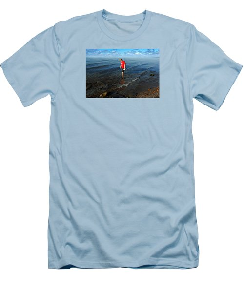 Men's T-Shirt (Slim Fit) featuring the photograph The Water's Fine by Lena Wilhite