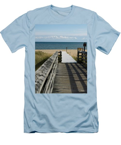 Men's T-Shirt (Slim Fit) featuring the photograph The Way To The Beach by Tara Lynn