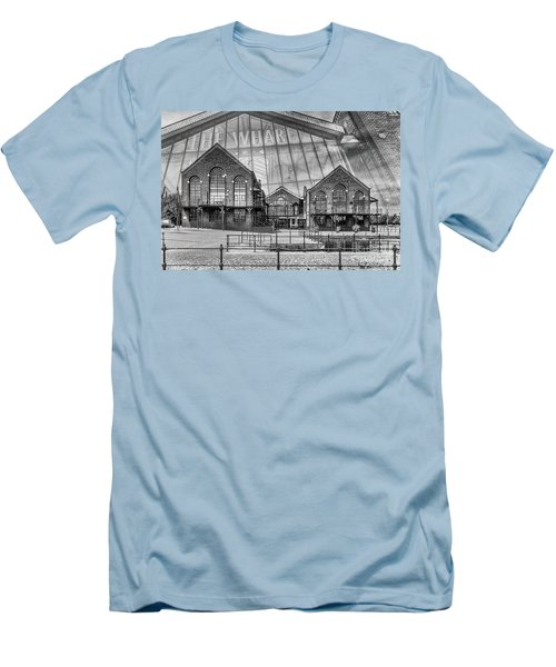 The Wharf Cardiff Bay Mono Men's T-Shirt (Slim Fit) by Steve Purnell