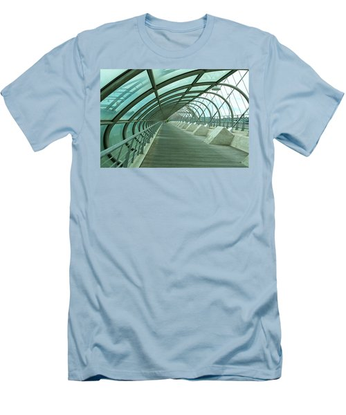 Third Millenium Bridge, Zaragoza, Spain Men's T-Shirt (Slim Fit) by Tamara Sushko