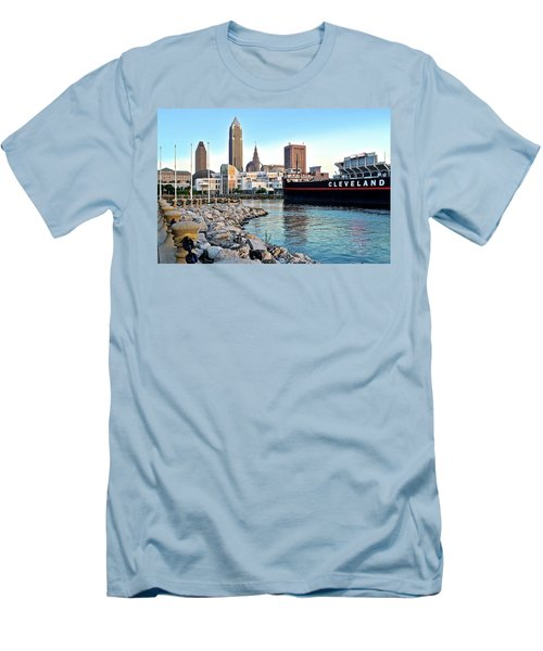 This Is Cleveland Men's T-Shirt (Slim Fit) by Frozen in Time Fine Art Photography