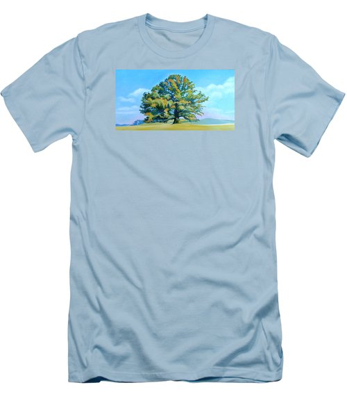 Thomas Jefferson's White Oak Tree On The Way To James Madison's For Afternoon Tea Men's T-Shirt (Slim Fit) by Catherine Twomey