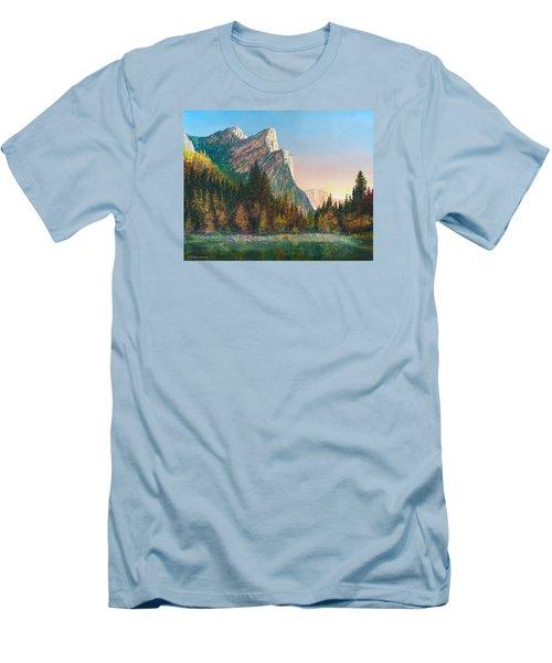 Three Brothers Morning Men's T-Shirt (Slim Fit) by Douglas Castleman