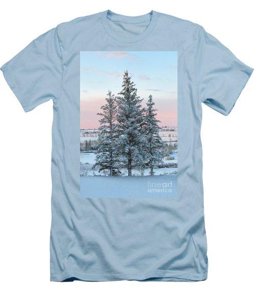 Three Trees Men's T-Shirt (Slim Fit) by Ronda Kimbrow
