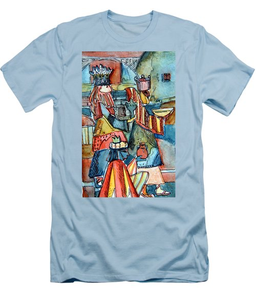 Three Wise Men Men's T-Shirt (Slim Fit) by Mindy Newman