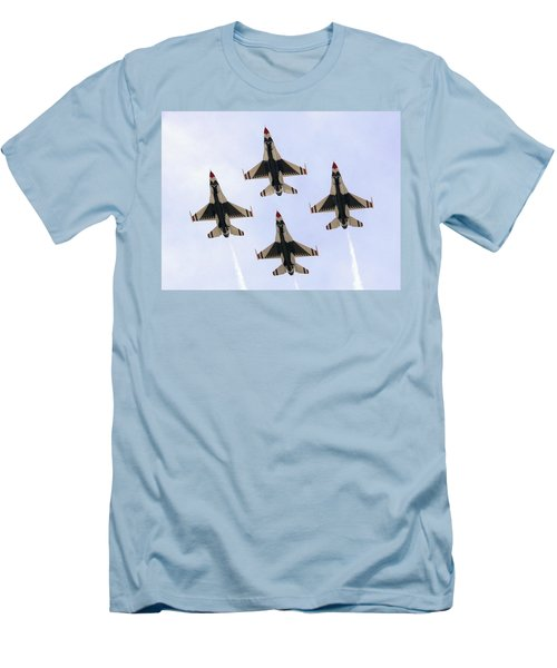 Thunderbirds Away Men's T-Shirt (Slim Fit) by Kevin Fortier