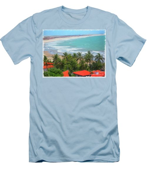 Tiabia, Brazil Beach Men's T-Shirt (Athletic Fit)
